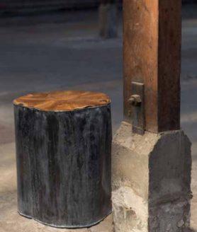 Metal Teak deco table