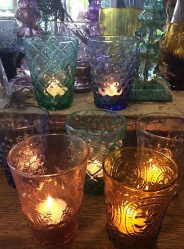 Unieke glazen waxinehouders
