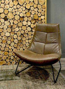 Industrieel leer fauteuil Hein bruin