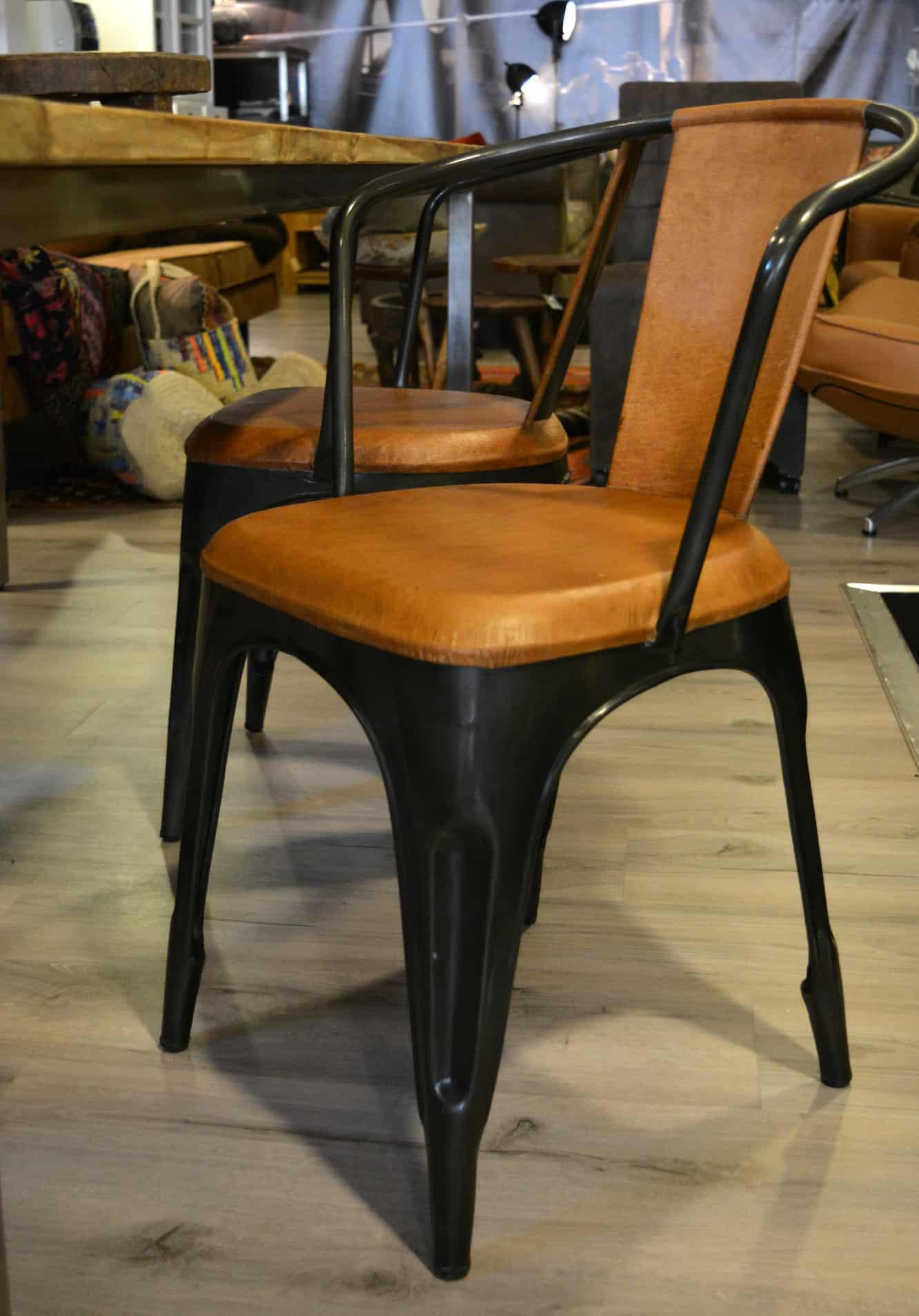 industri le stoel met vintage uitstraling pure wood