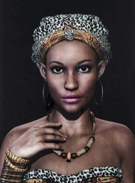 Alu art african queen face