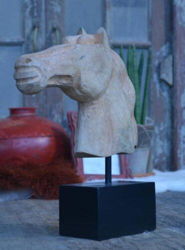 Deco Horse Head Natural