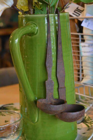 Oude metalen lepels uniek Pure wood