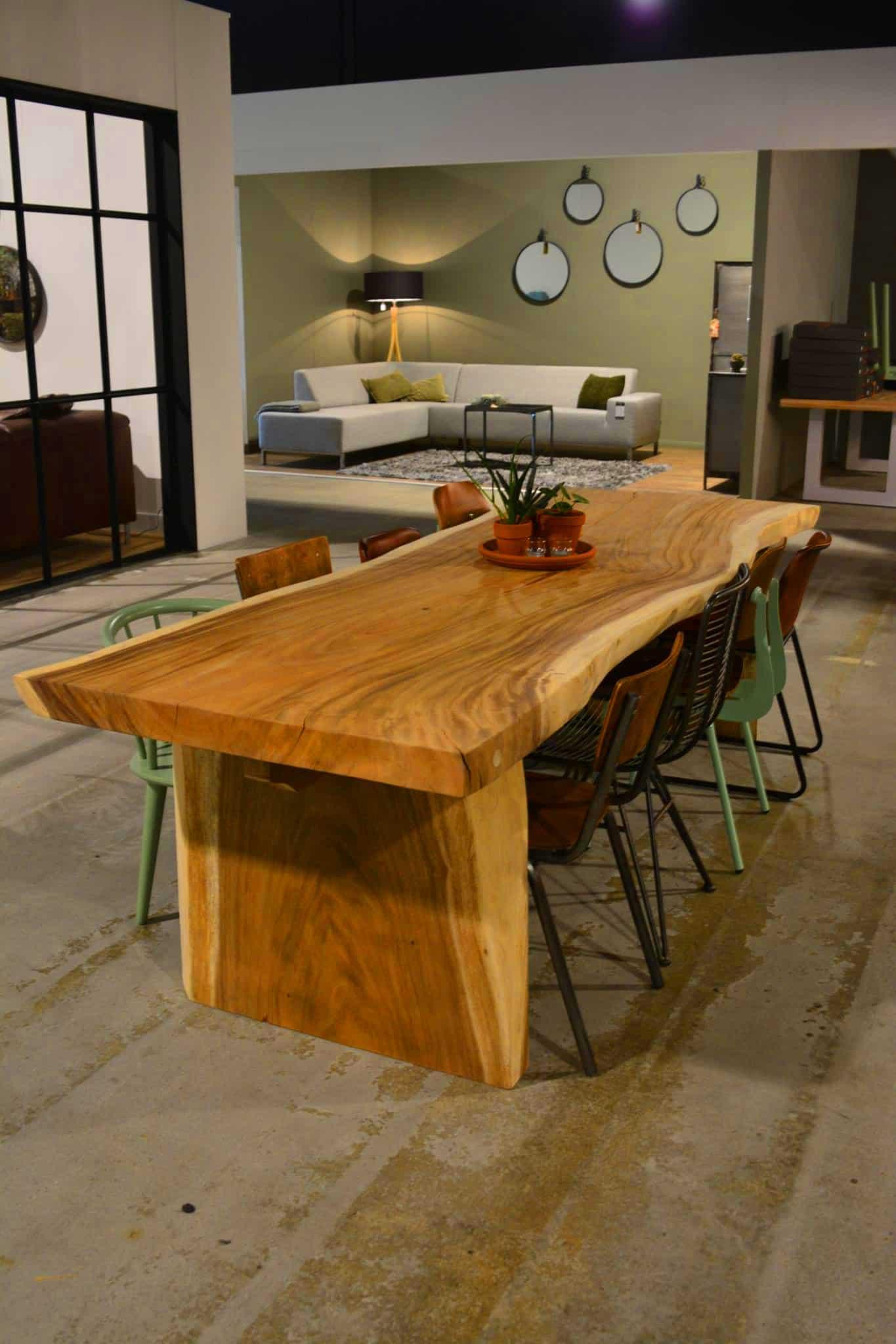 Genoeg Unieke Boomstamtafel van Suar hout verschillende afmetingen Pure Wood #UT71