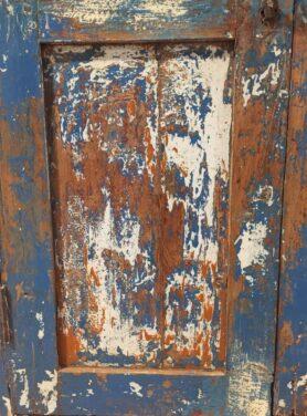 Unieke Kast Blauw India detail