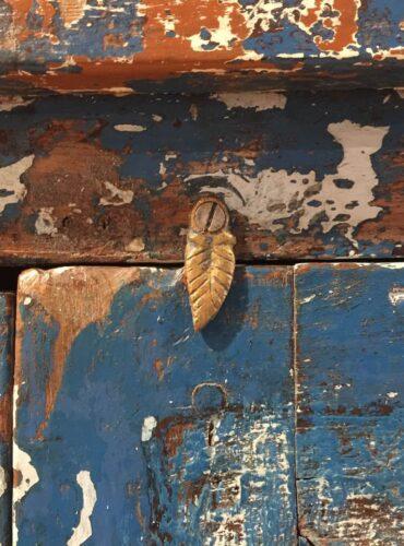 Unieke Kast Blauw India slotje