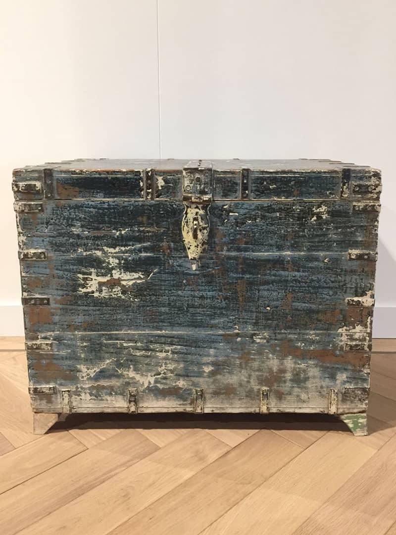 Grote blauwe opbergkist - Purewood