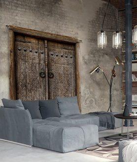 Wandkleed Old Doors - Pure Wood