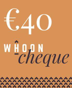 40 euro whoon cadeaubon