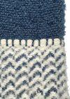 Plaid Berber donker blauw detail