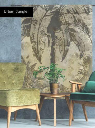 Wandkleed Urban Jungle - Verkrijgbaar bij Pure Wood