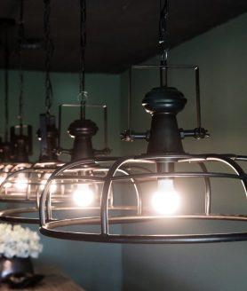 Denver metal hanging lamp open design