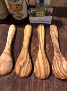 Tapas lepeltjes set - olijfhout