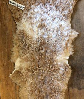 Bovenkant van deze tibetaanse schapenvacht