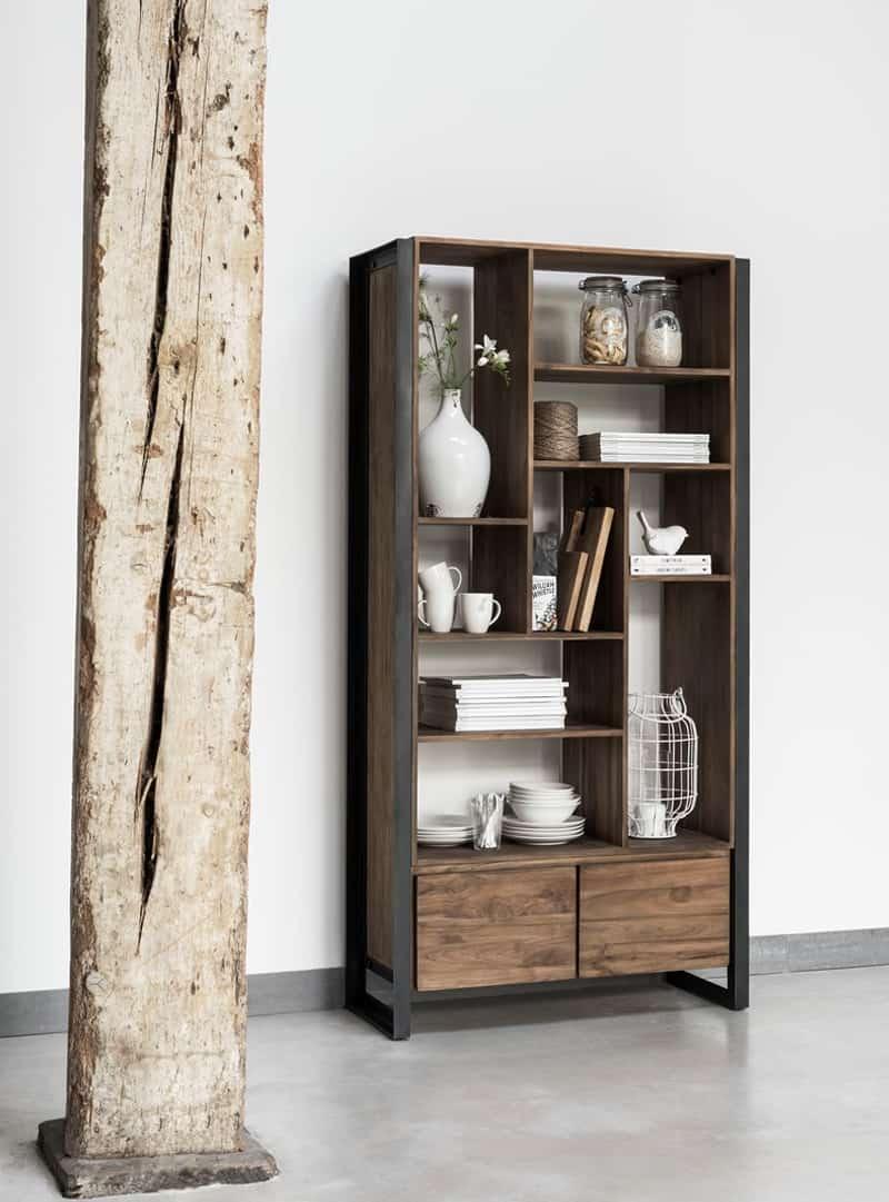 Stoere boekenkast purewood - Eigentijdse boekenkast ...