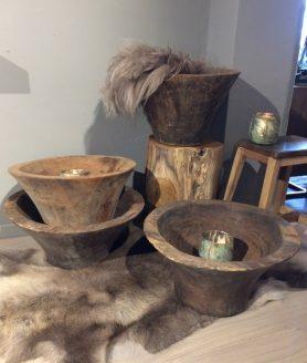 Mooie houten schalen