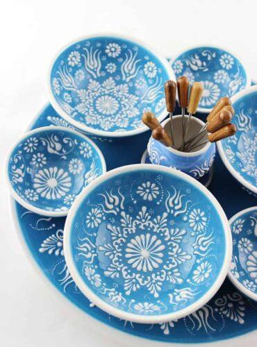 leuke sfeerfoto van deze mooie blauwe schaaltjes