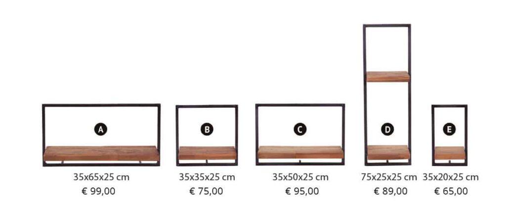 Pure Wood shelfmate Afmetingen