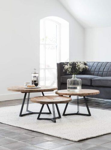 Sfeerfoto van deze 3 cabrini tafels