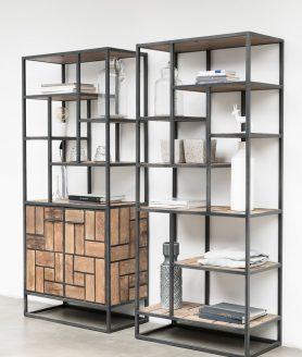 Sfeerfoto van deze mondrian boekenkast
