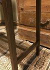 Ijzeren console tafel detailfoto metalen frame