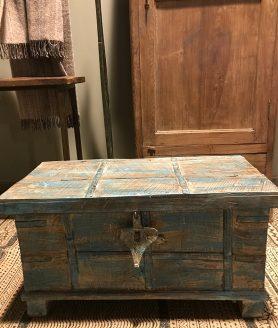 Kist uniek blauw