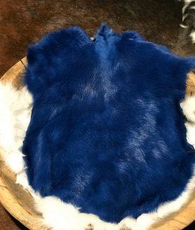Konijnenvacht blauw