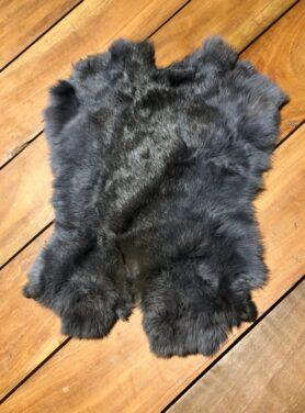 Konijnenvacht blauw grijs