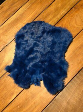 Konijnenvacht kobalt blauw