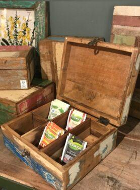 Pure Wood theedoos Scrapwood