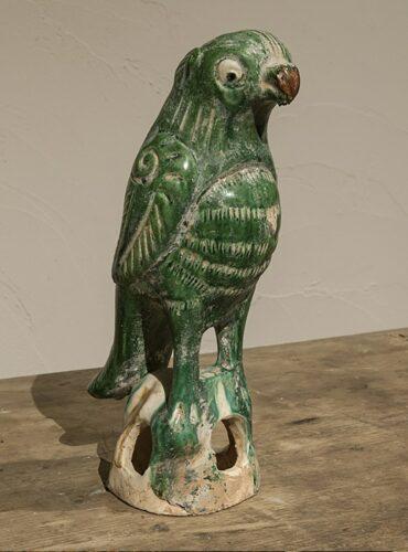 Papegaai porselein groen