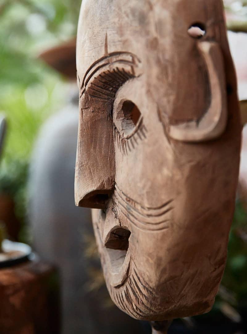 Masker op standaard - Pure Wood