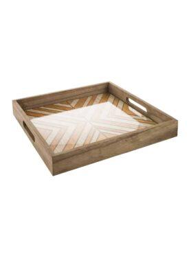 Tray bruin - pure wood