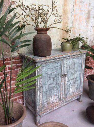 Unieke kast old blue - Pure Wood