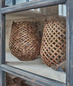 Windlicht Kos large riet - pure wood