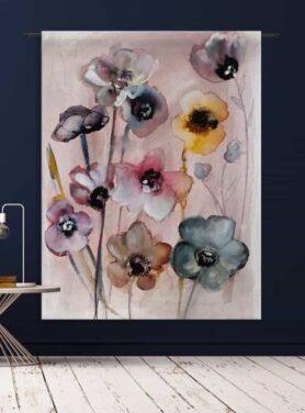Wandkleed Flowers in Soft Hues