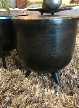 Bijzettafel-metaal-zwart