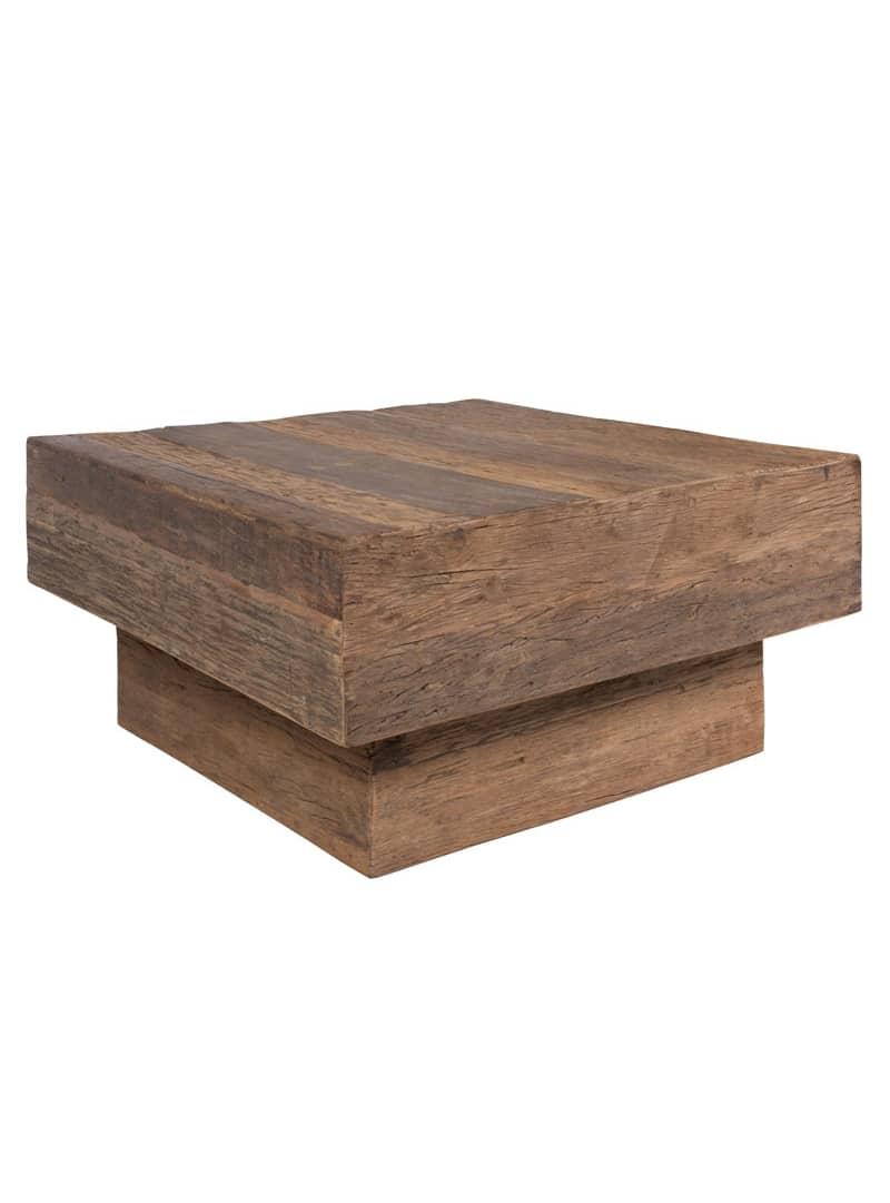 Salontafel blok robuust oud hout 2