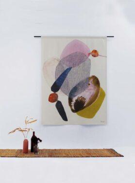 Wandkleed abstract - Wings2