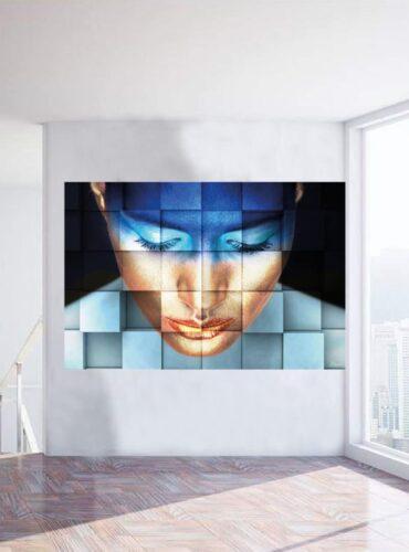 alu art blue girl