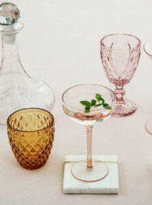 Bloomingville drinkglas bruin