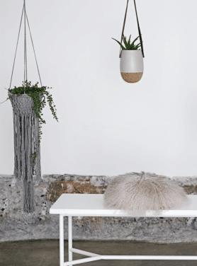 Bloomingville plantenhanger grijs