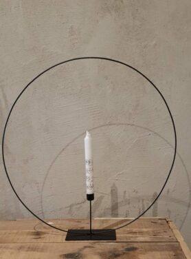 Kandelaar-cirkel-metaal-zwart