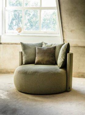 Lounge fauteuil rond Raffael2