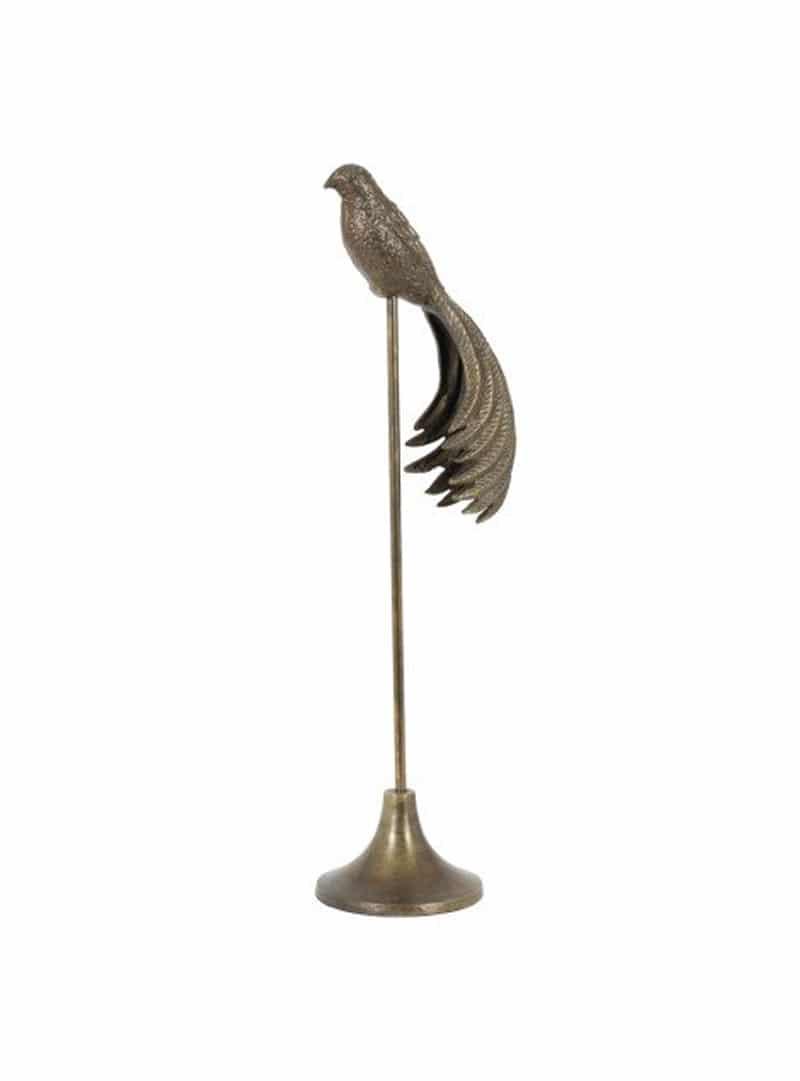Ornament op voet brons