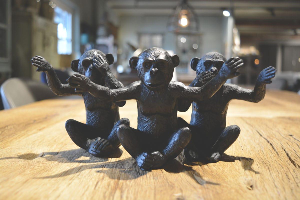 Decoratie beeldjes apen
