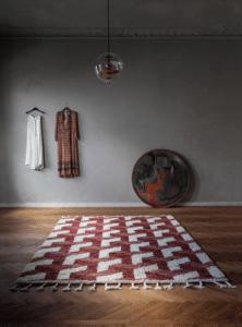 Vloerkleed Tile Terracotta