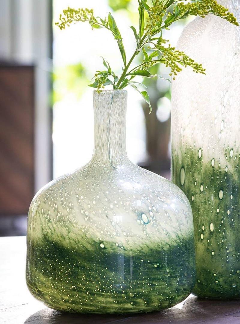 Vaas glas groen
