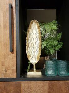 Ornament leaf goud