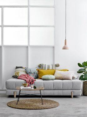 bloomingville-sierkussen-yellow